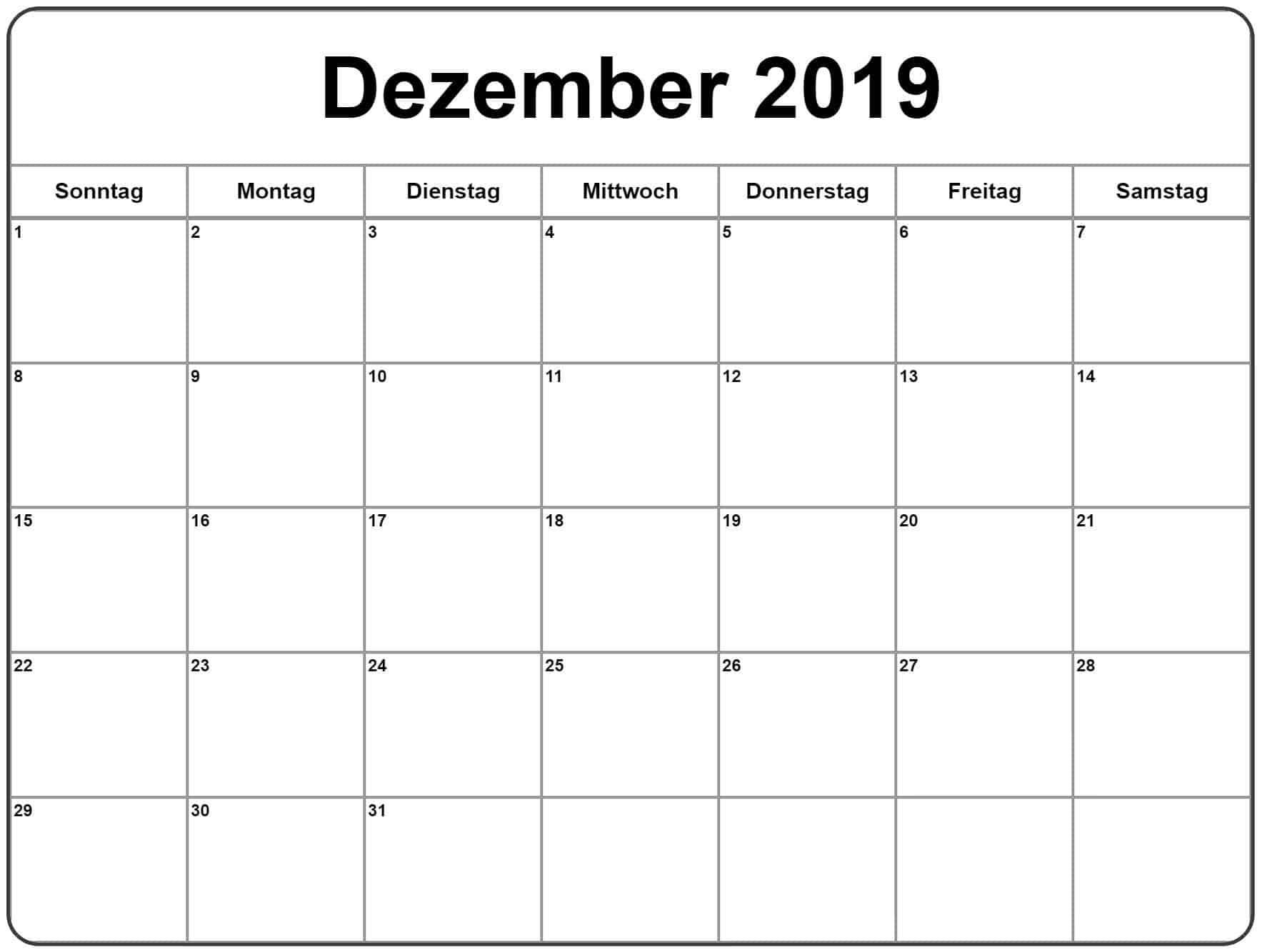 Kalender Bild Dezember 2019