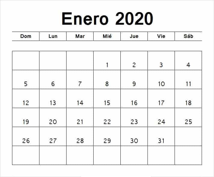 Calendario 2020 Para Imprimir Por Meses Hoyuk Westernscandinavia Org