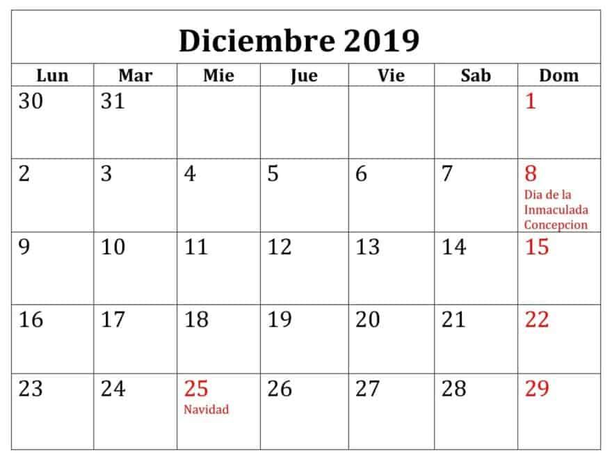 Calendario Diciembre.Calendario Diciembre 2019 Argentina Planificador Nosovia Com