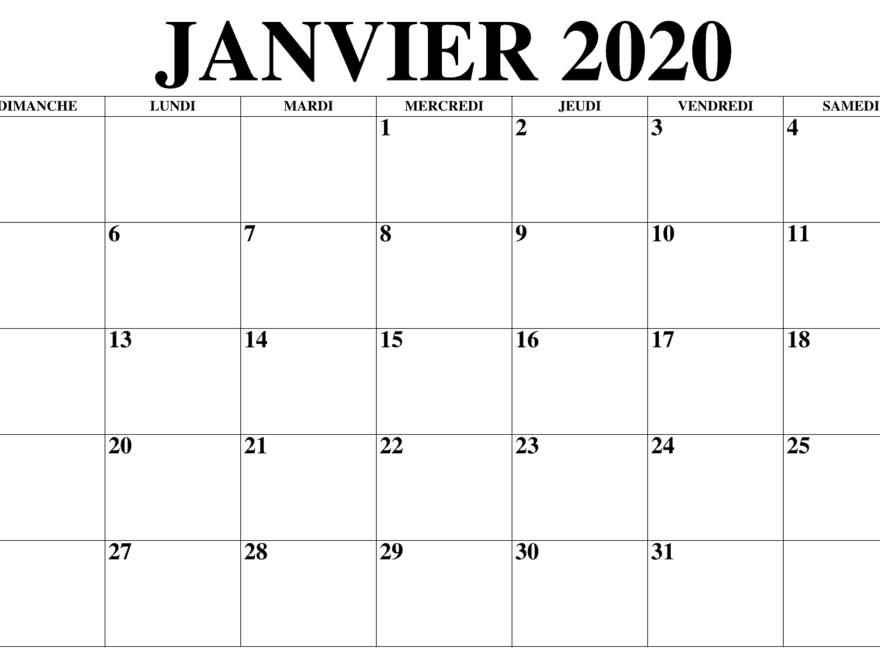Calendrier 2019 Et 2020 à Imprimer.Vacances Calendrier Janvier 2020 A Imprimer Nosovia Com