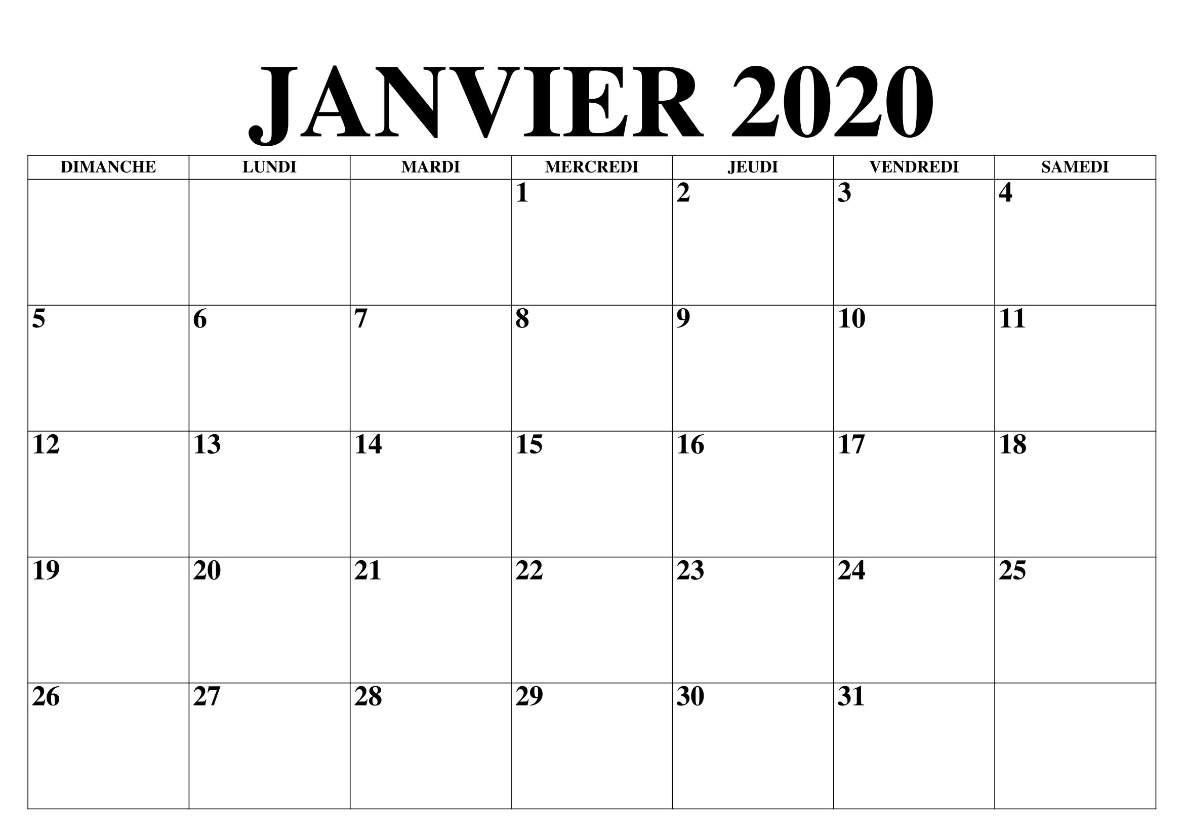 Calendrier 2020 A Imprimer.Vacances Calendrier Janvier 2020 A Imprimer Nosovia Com