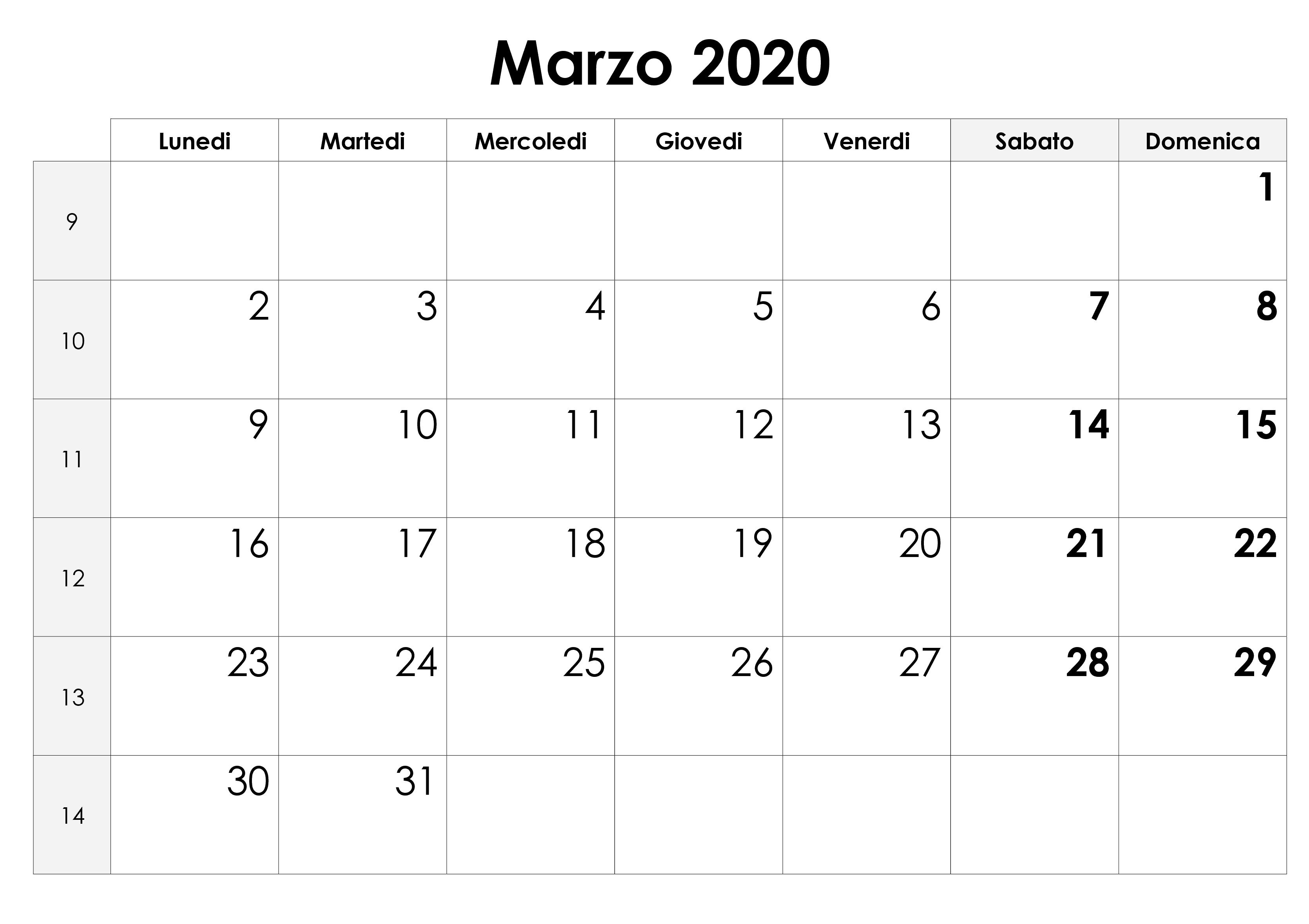 Calendario Marzo 2020 Chile Profesional