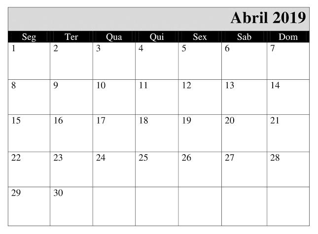Calendario Abril 2020 Argentina Estilos