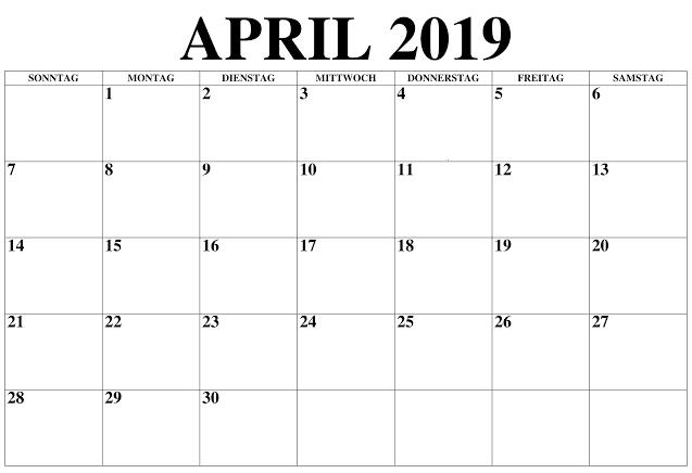 Kalender April 2020 Zum Ausdrucken Stile