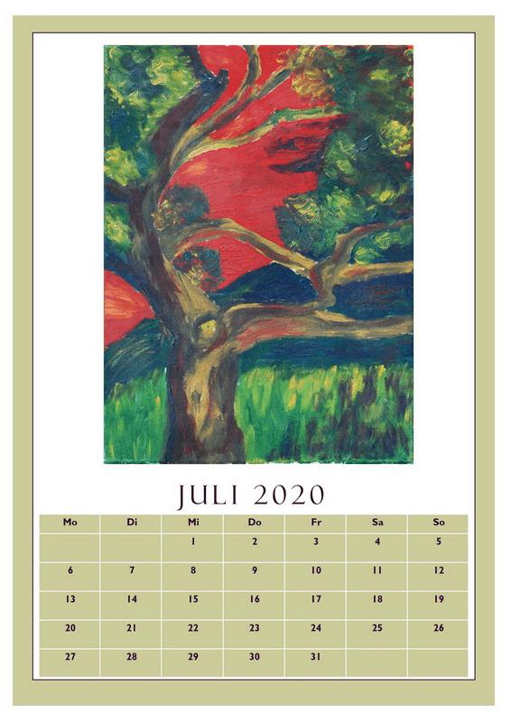 Kalender 2020 Juli