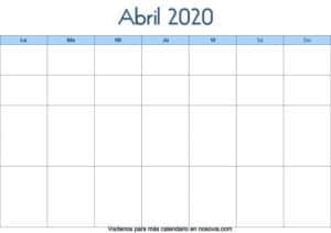 Calendario-abril-2020-en-blanco-Palabra-gratis