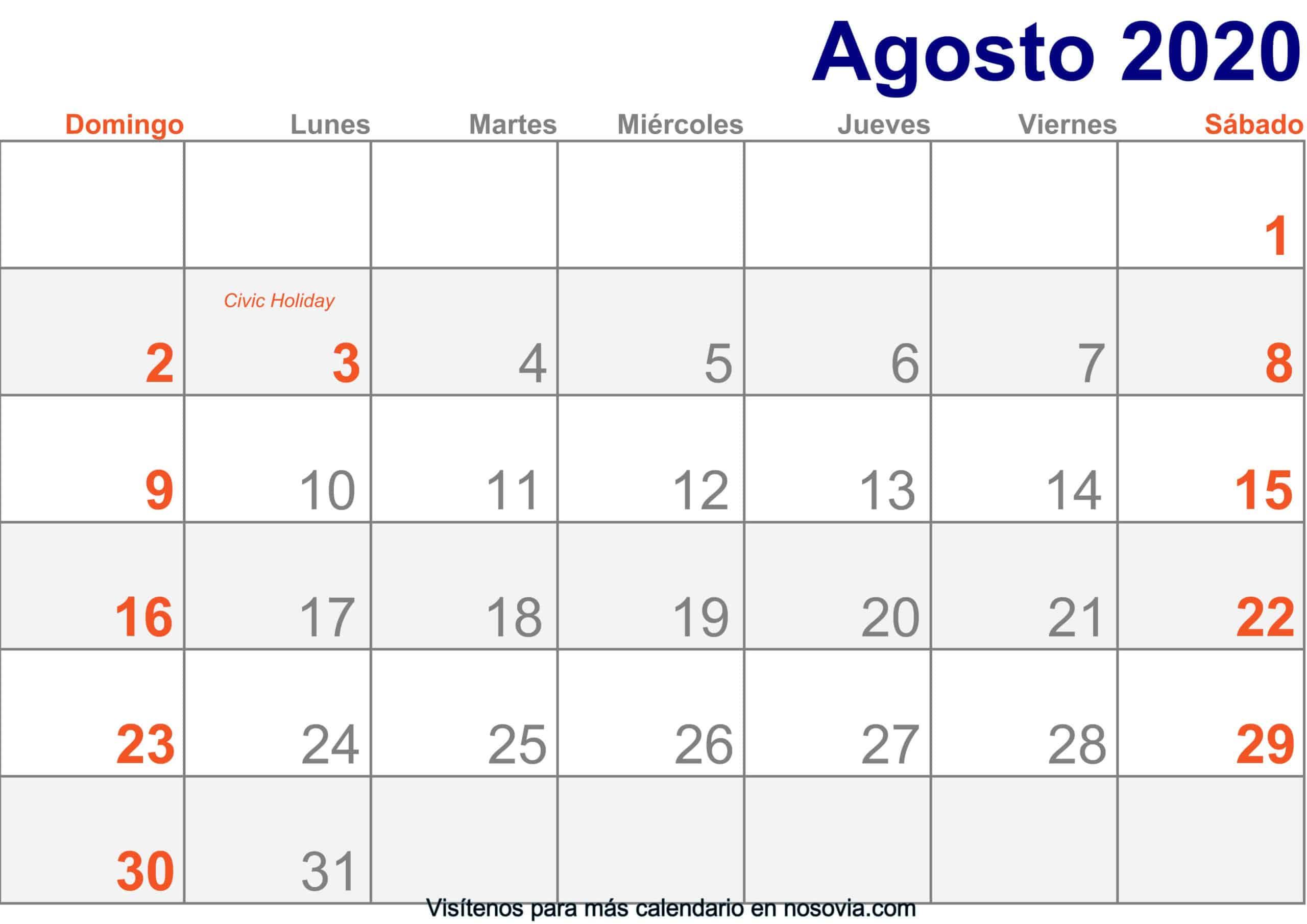 Calendario-agosto-2020-Con-Festivos-Imprimir