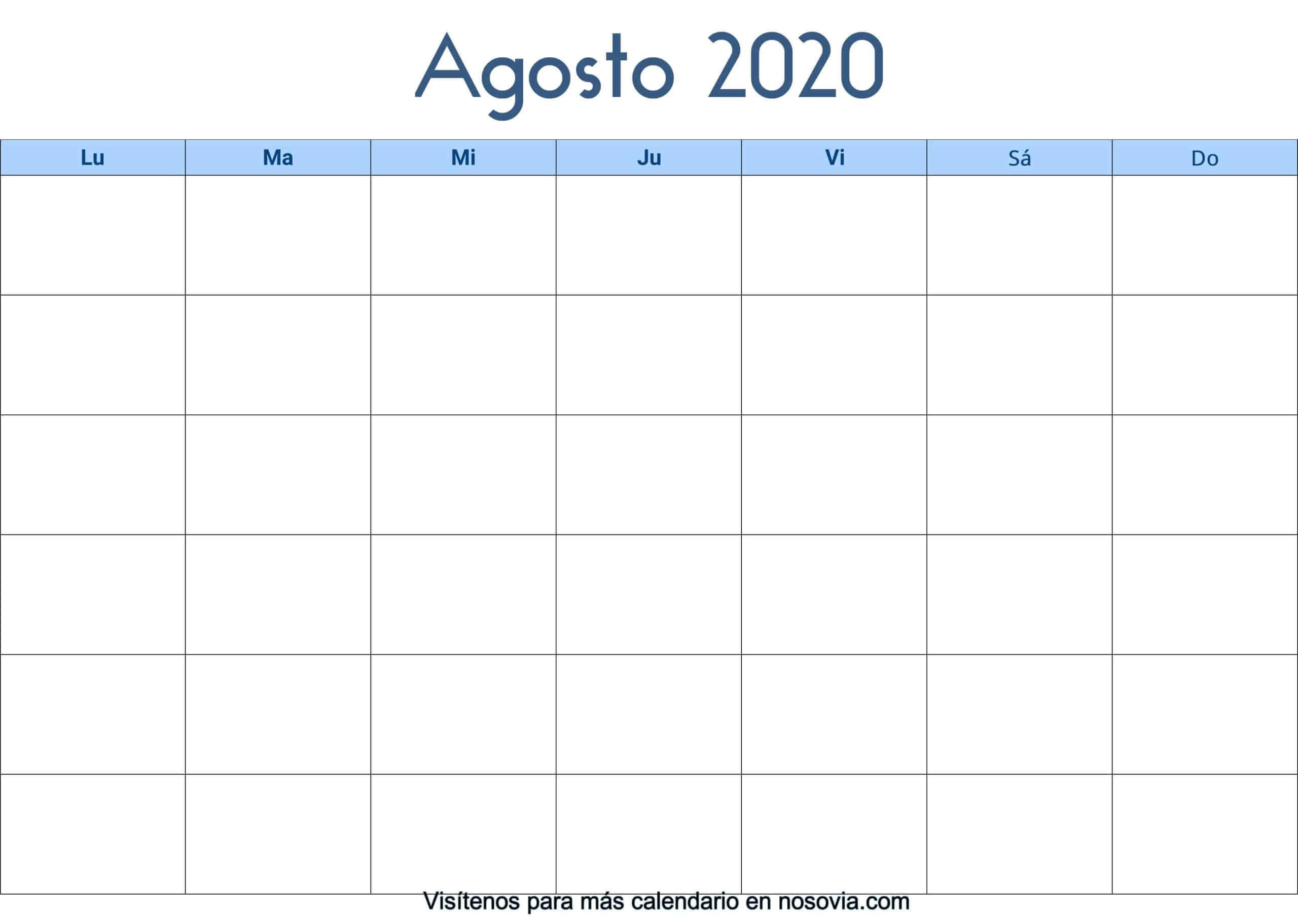 Calendario-agosto-2020-en-blanco-Palabra-gratis