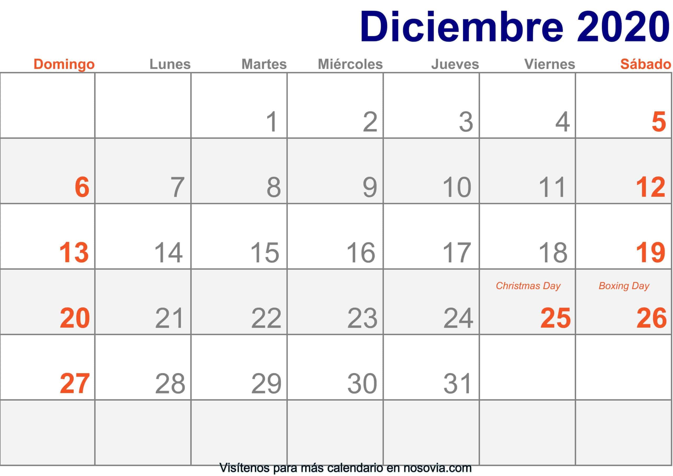 Calendario-diciembre-2020-Con-Festivos-Imprimir