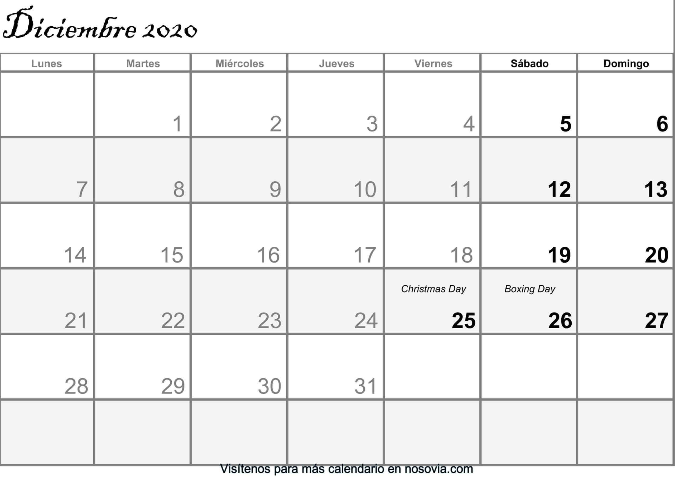 Calendario-diciembre-2020-Con-Festivos-PDF