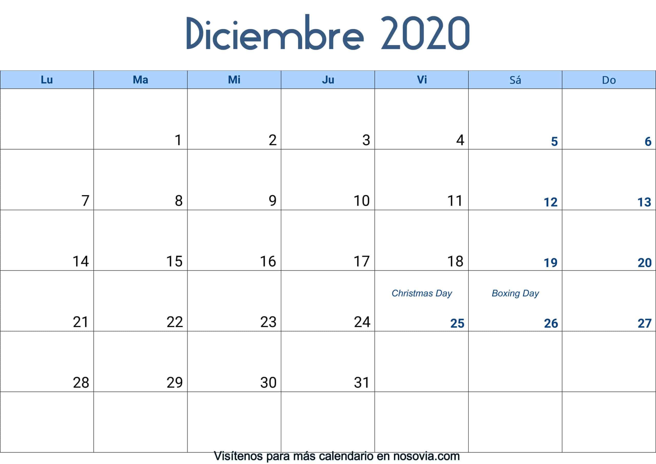 Calendario-diciembre-2020-Con-Festivos-Palabra