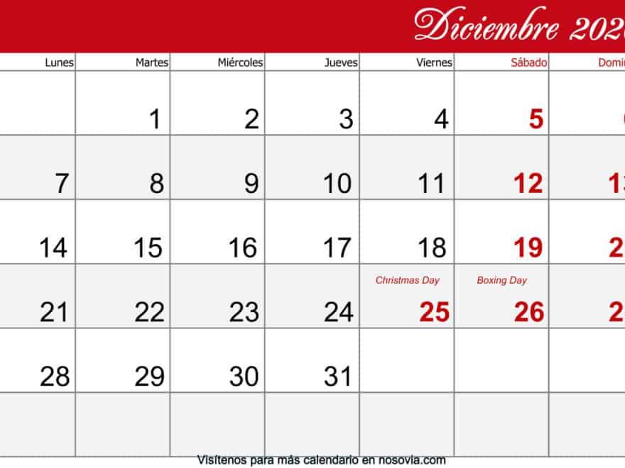 Calendario-diciembre-2020-Con-Festivos-imprimible