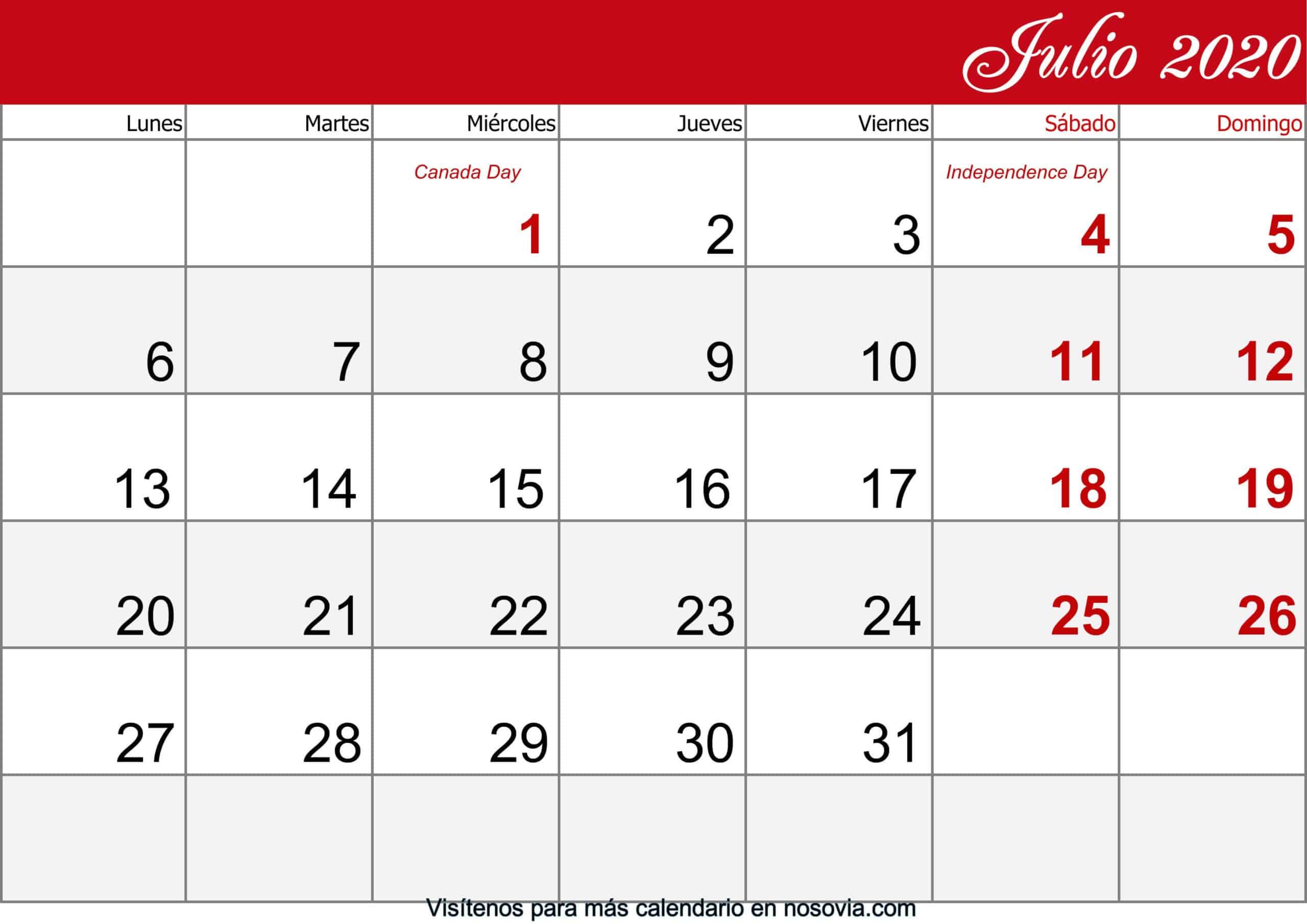Calendario-julio-2020-Con-Festivos-imprimible