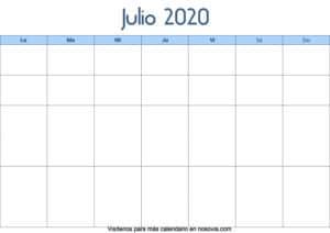 Calendario-julio-2020-en-blanco-Palabra-gratis