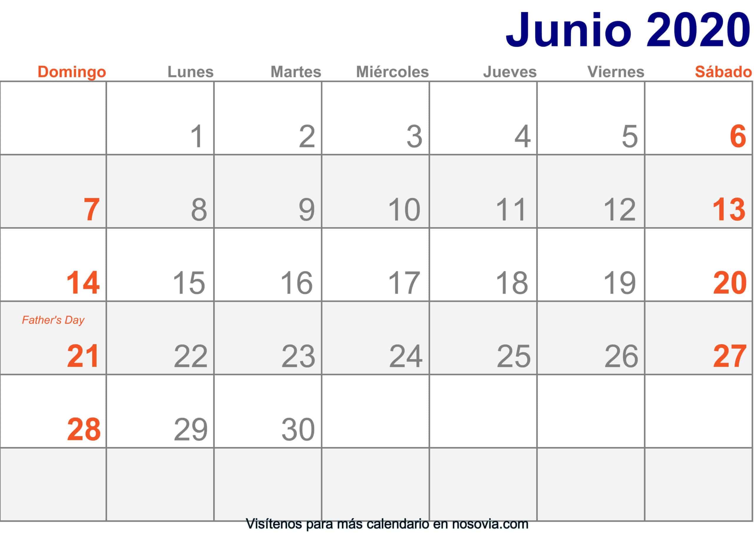 Calendario-junio-2020-Con-Festivos-Imprimir