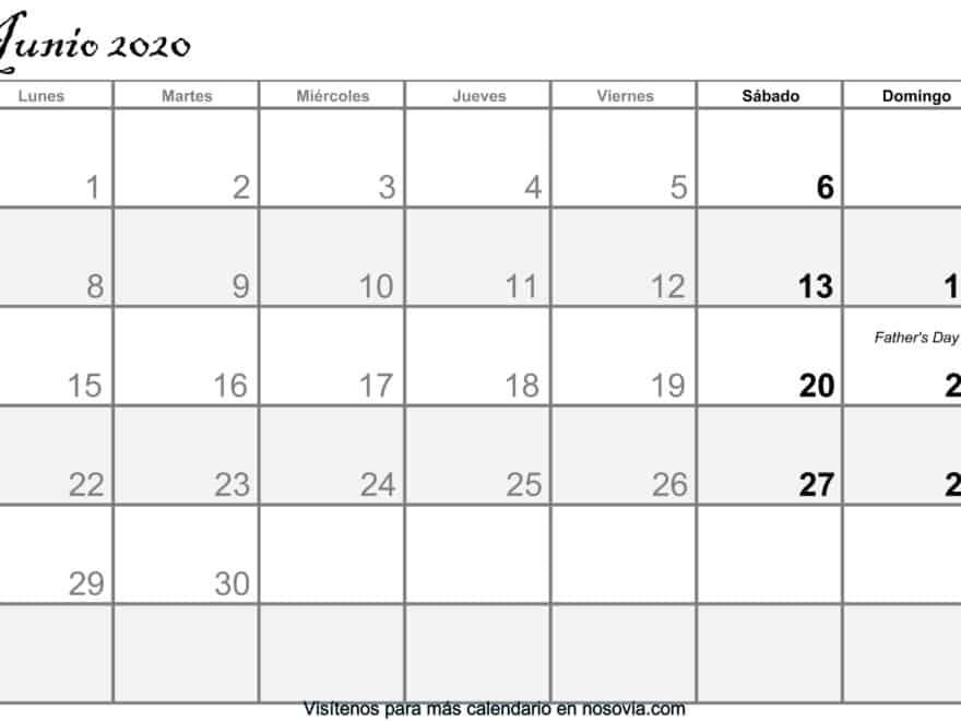 Calendario-junio-2020-Con-Festivos-PDF