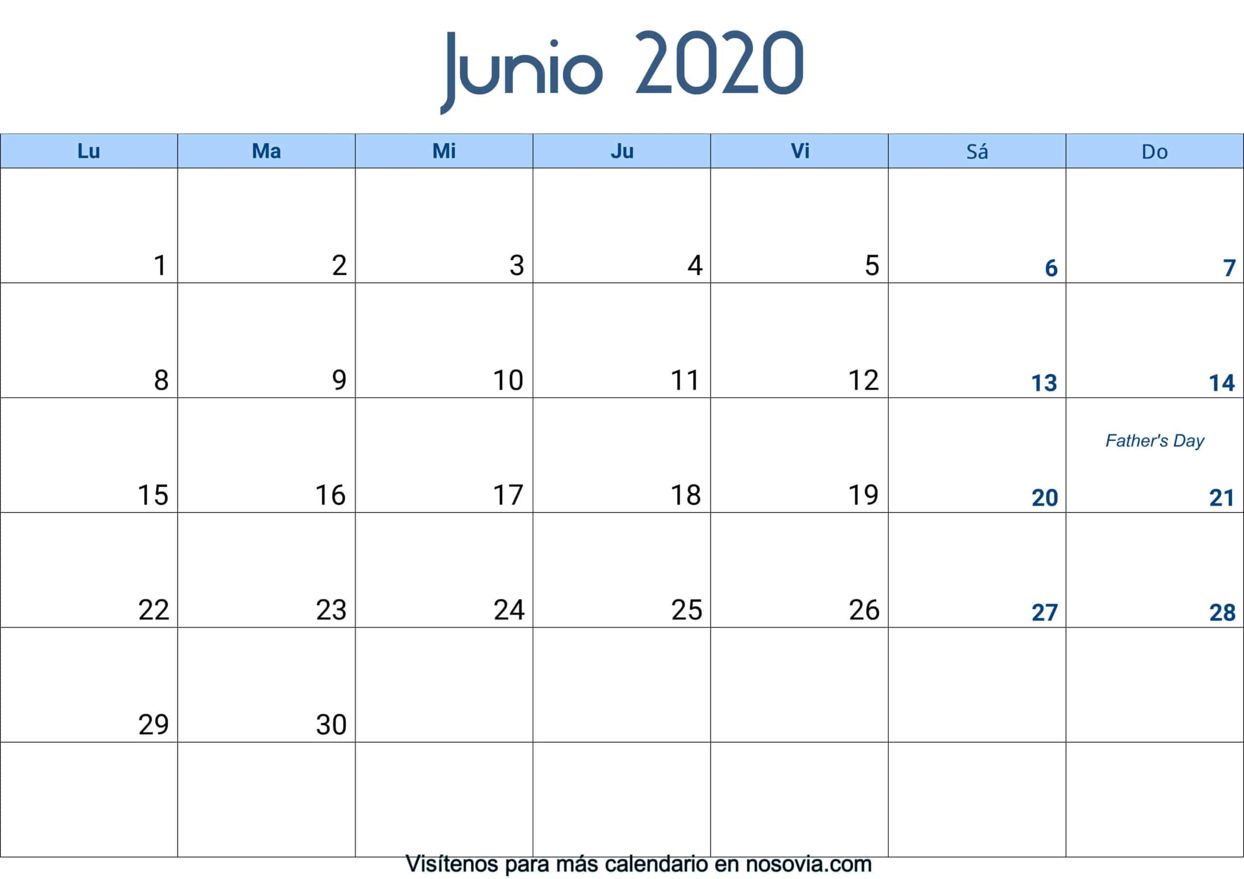 Calendario-junio-2020-Con-Festivos-Palabra