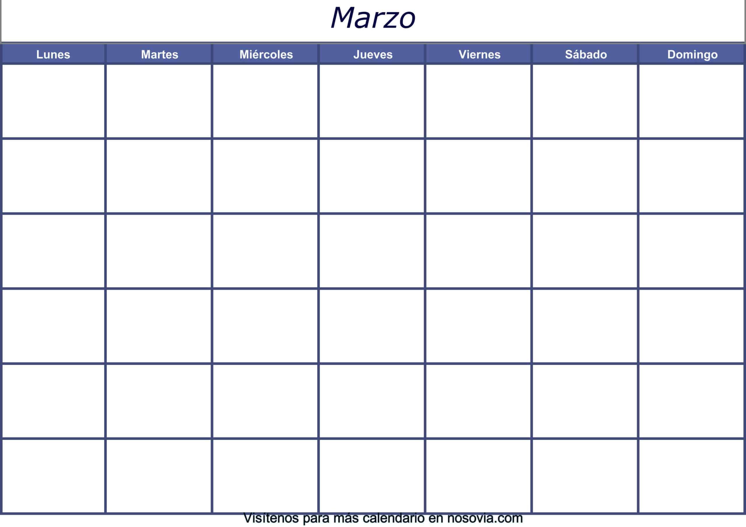 Calendario-marzo-2020-en-blanco-Imágenes-gratis