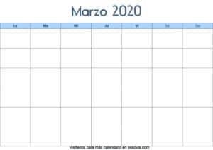 Calendario-marzo-2020-en-blanco-Palabra-gratis