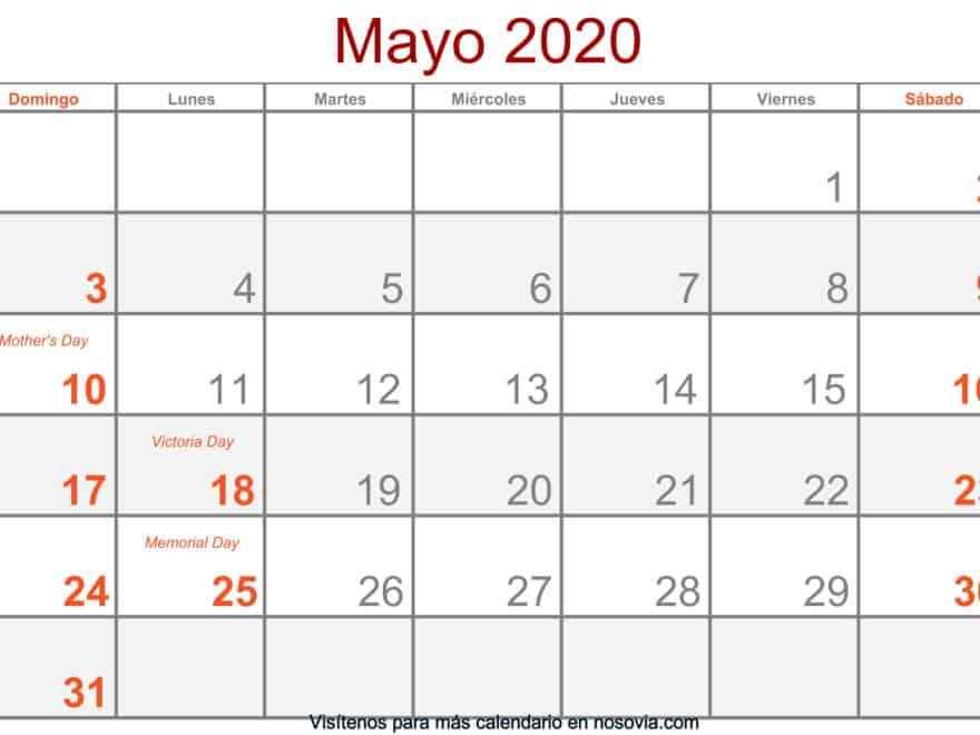 Calendario-mayo-2020-Con-Festivos-Formato