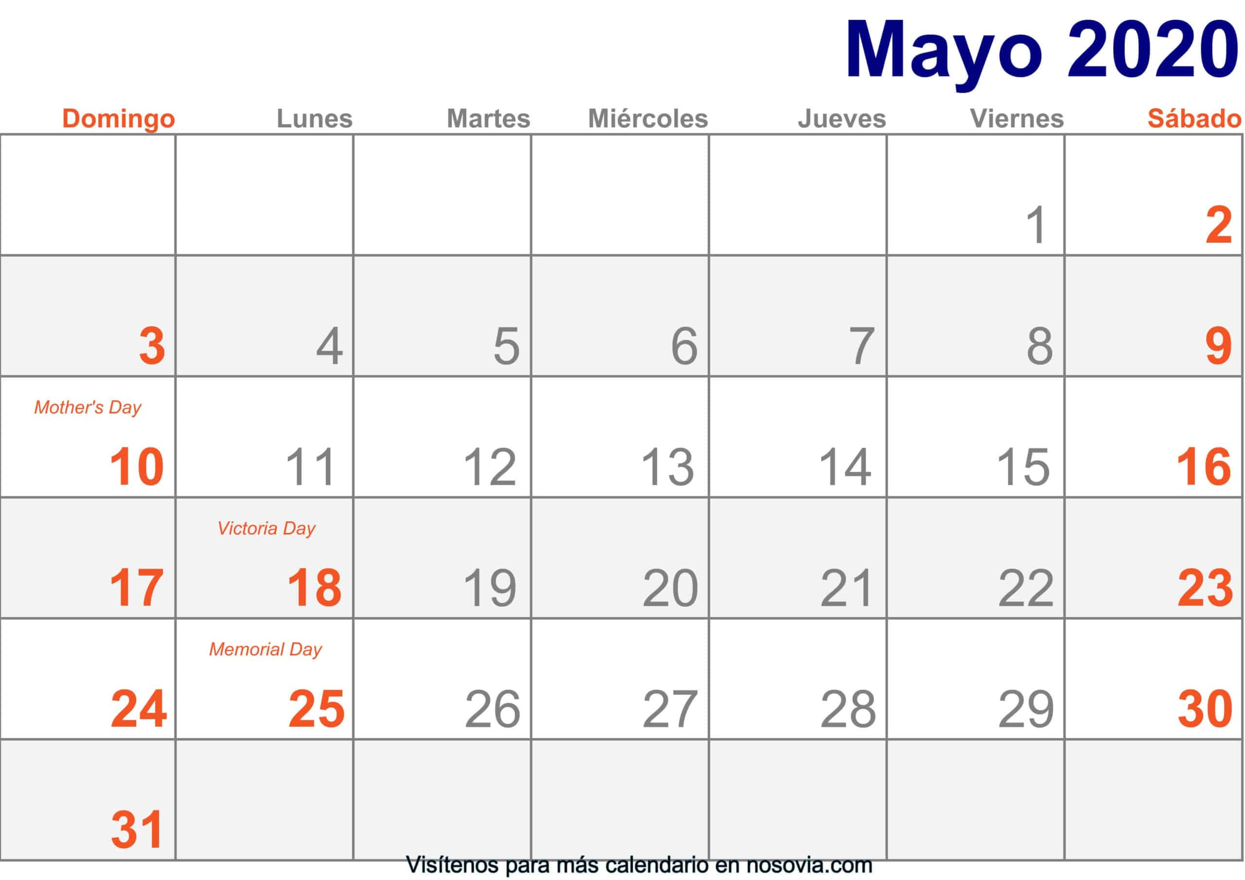 Calendario-mayo-2020-Con-Festivos-Imprimir