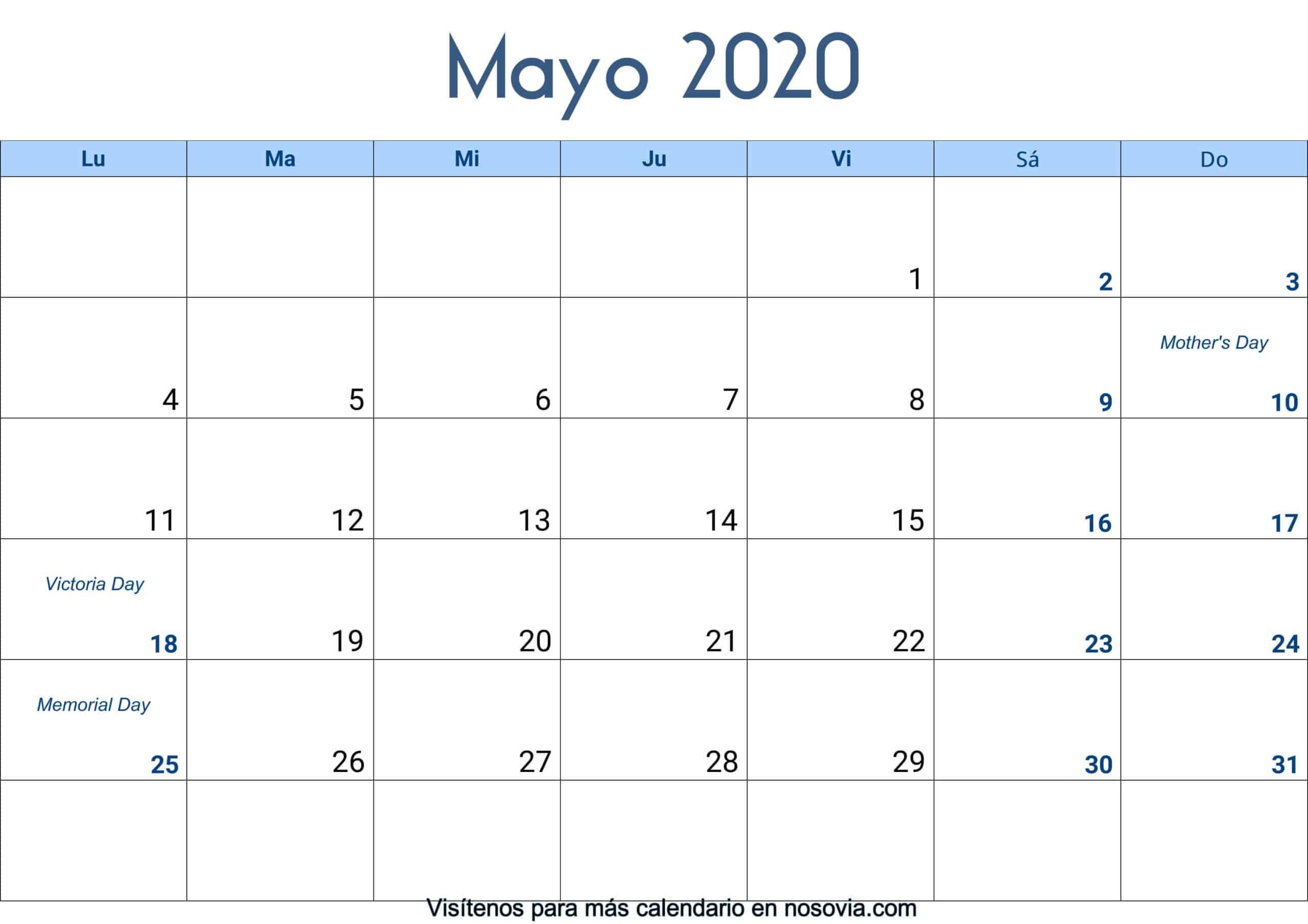 Calendario-mayo-2020-Con-Festivos-Palabra