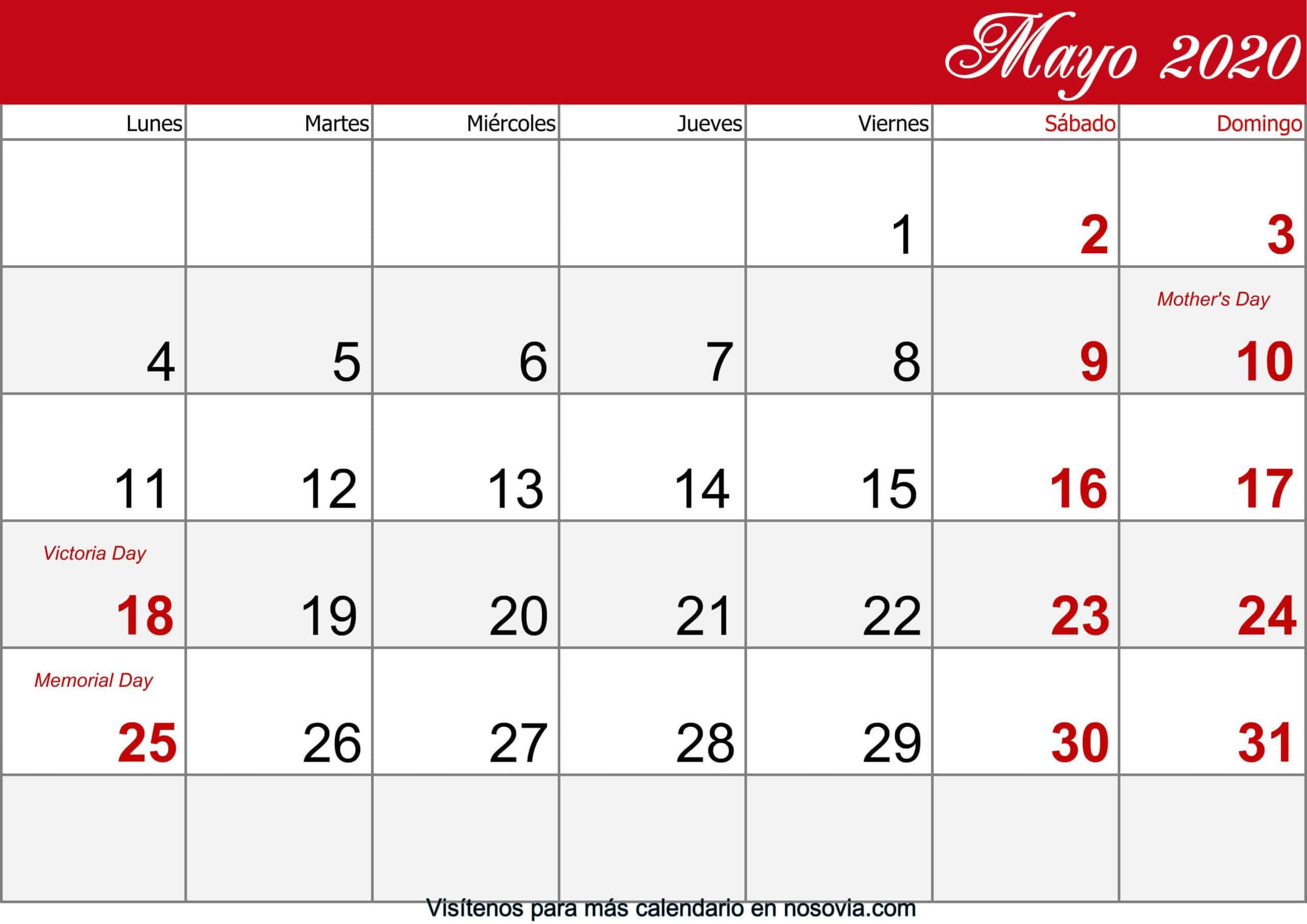 Calendario-mayo-2020-Con-Festivos-imprimible
