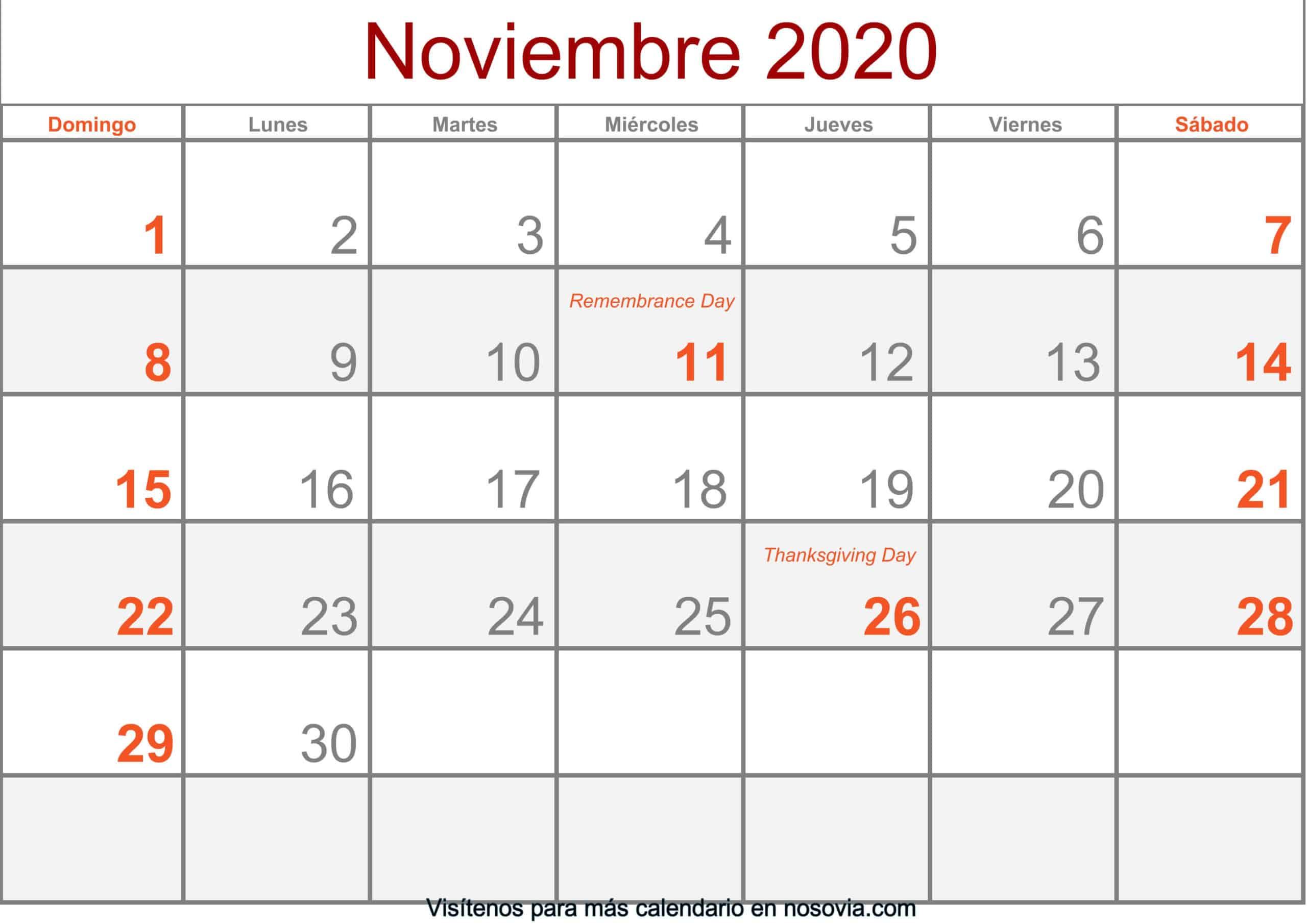Calendario-noviembre-2020-Con-Festivos-Formato