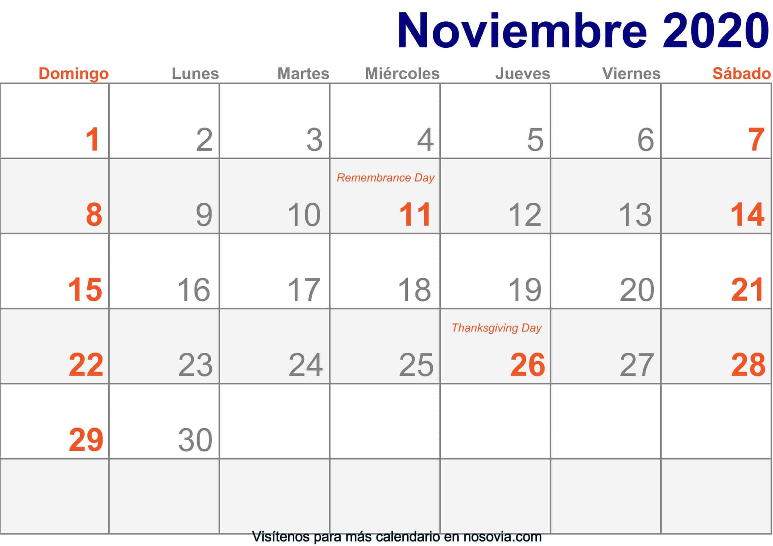 Calendario-noviembre-2020-Con-Festivos-Imprimir