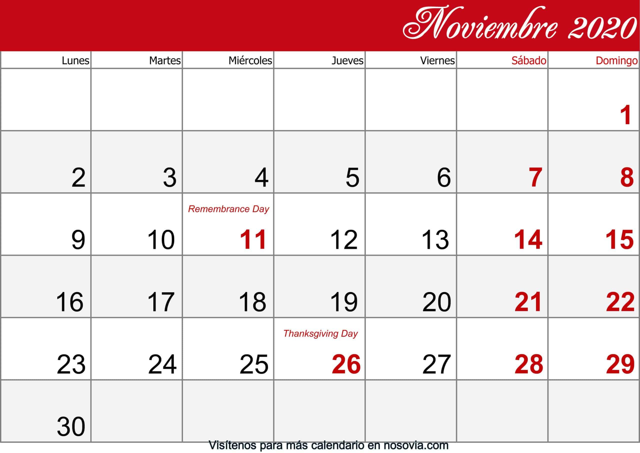 Calendario-noviembre-2020-Con-Festivos-imprimible