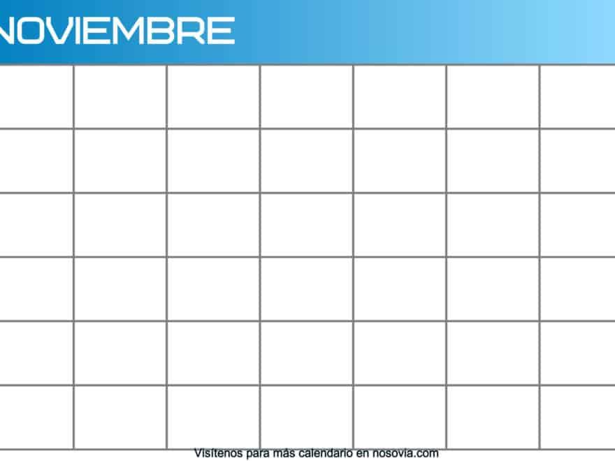 Calendario-noviembre-2020-en-blanco-Imágenes-gratis