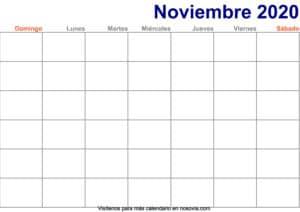 Calendario-noviembre-2020-en-blanco-Imprimir-gratis