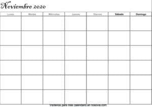 Calendario-noviembre-2020-en-blanco-PDF-gratis