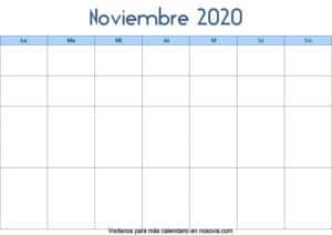 Calendario-noviembre-2020-en-blanco-Palabra-gratis