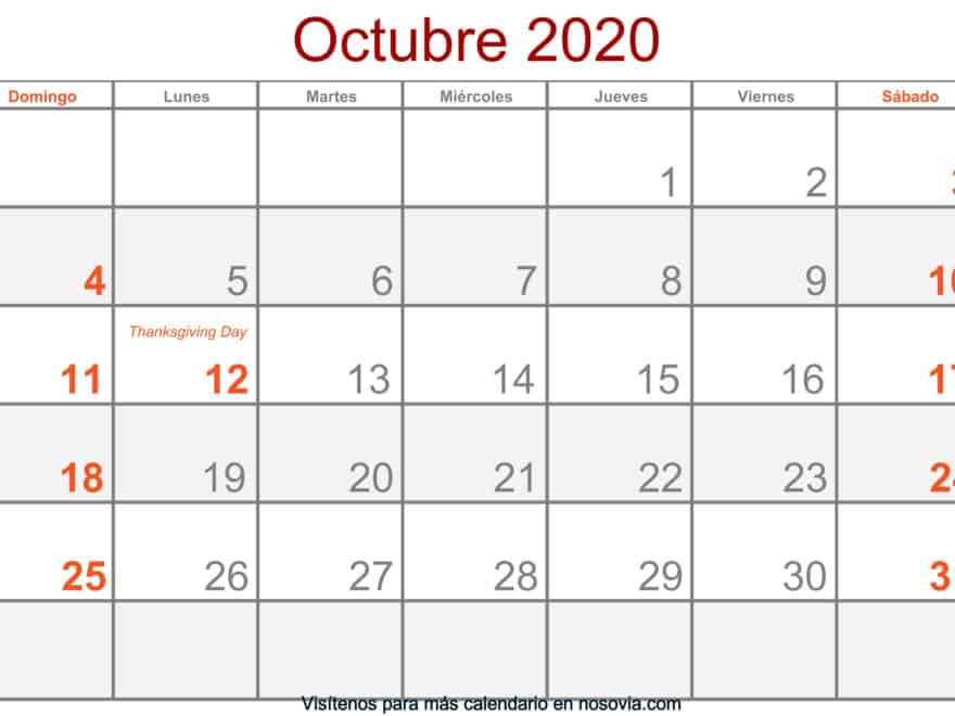 Calendario-octubre-2020-Con-Festivos-Formato