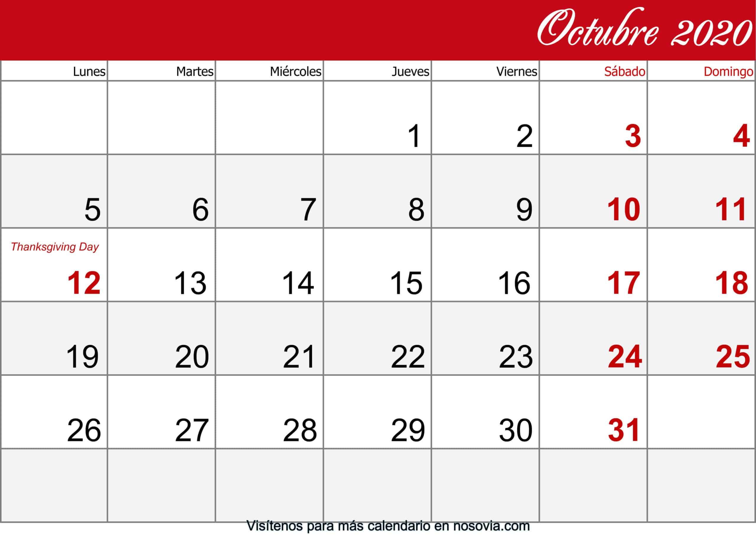 Calendario-octubre-2020-Con-Festivos-imprimible