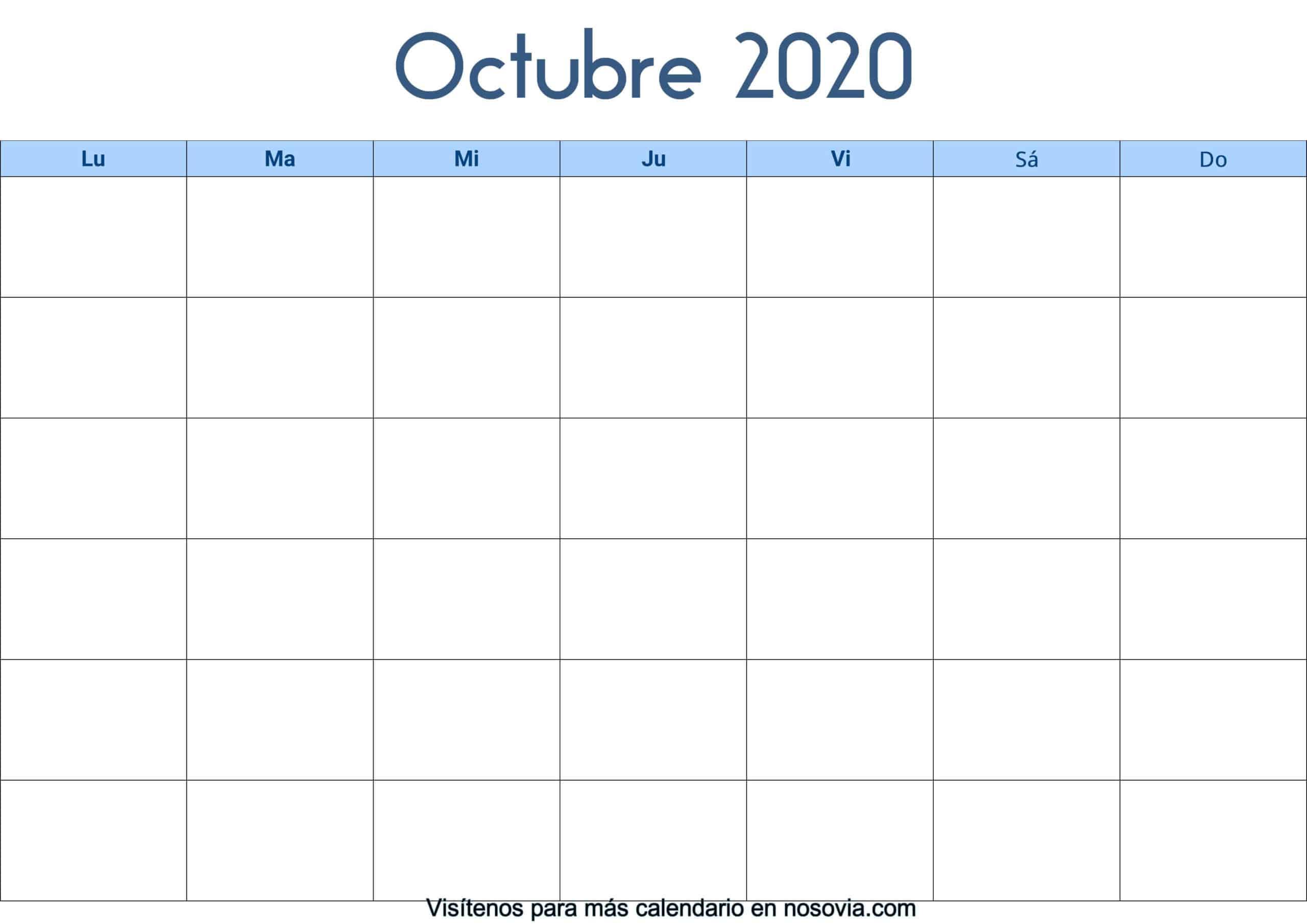 Calendario-octubre-2020-en-blanco-Palabra-gratis