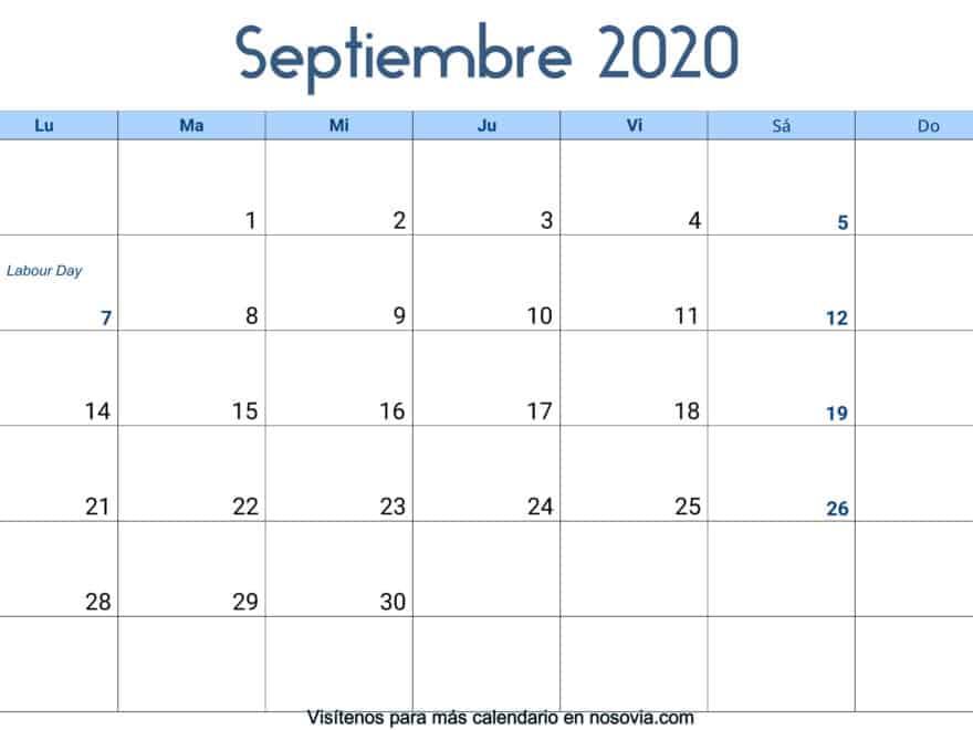Calendario-septiembre-2020-Con-Festivos-Palabra
