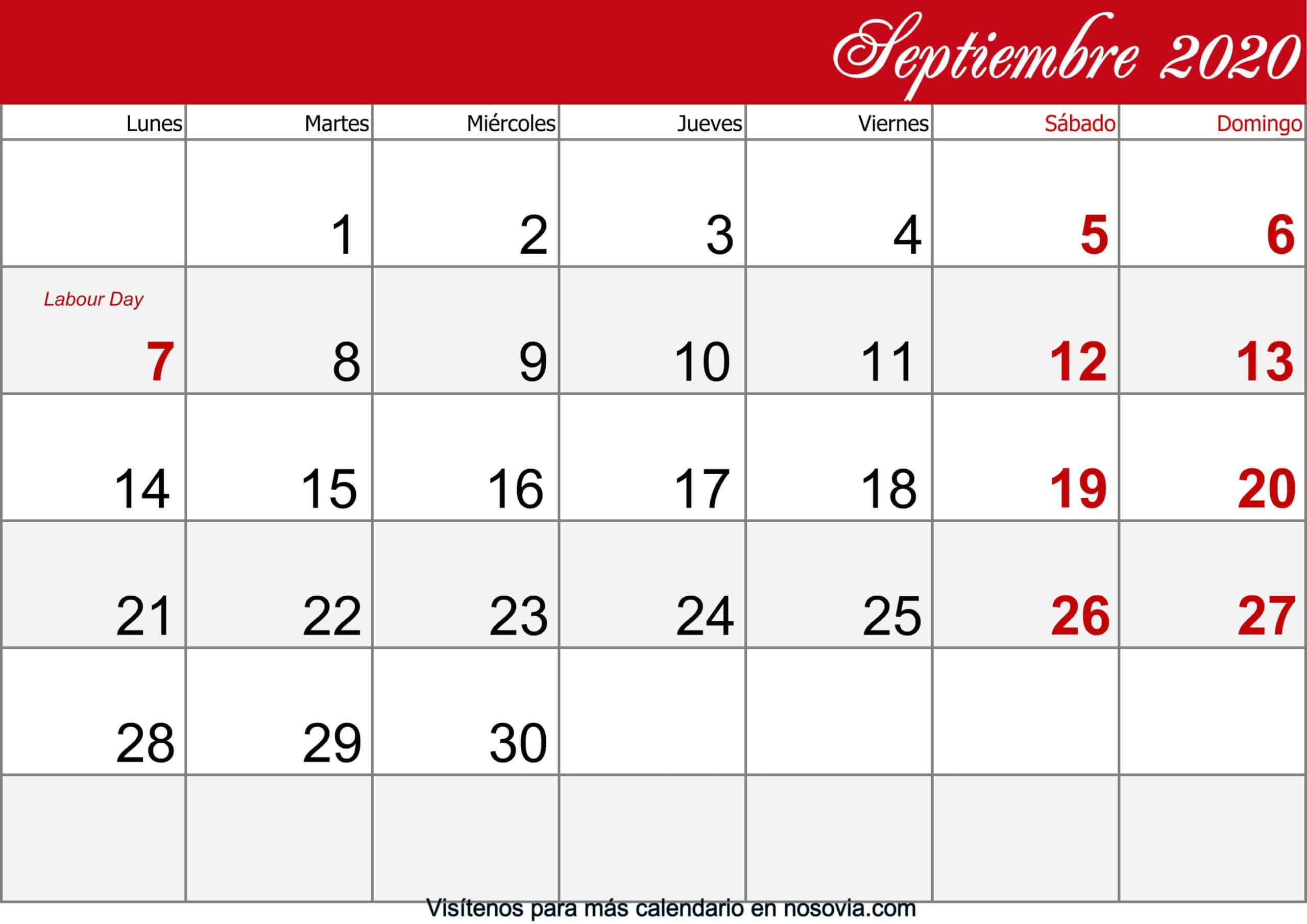Calendario-septiembre-2020-Con-Festivos-imprimible