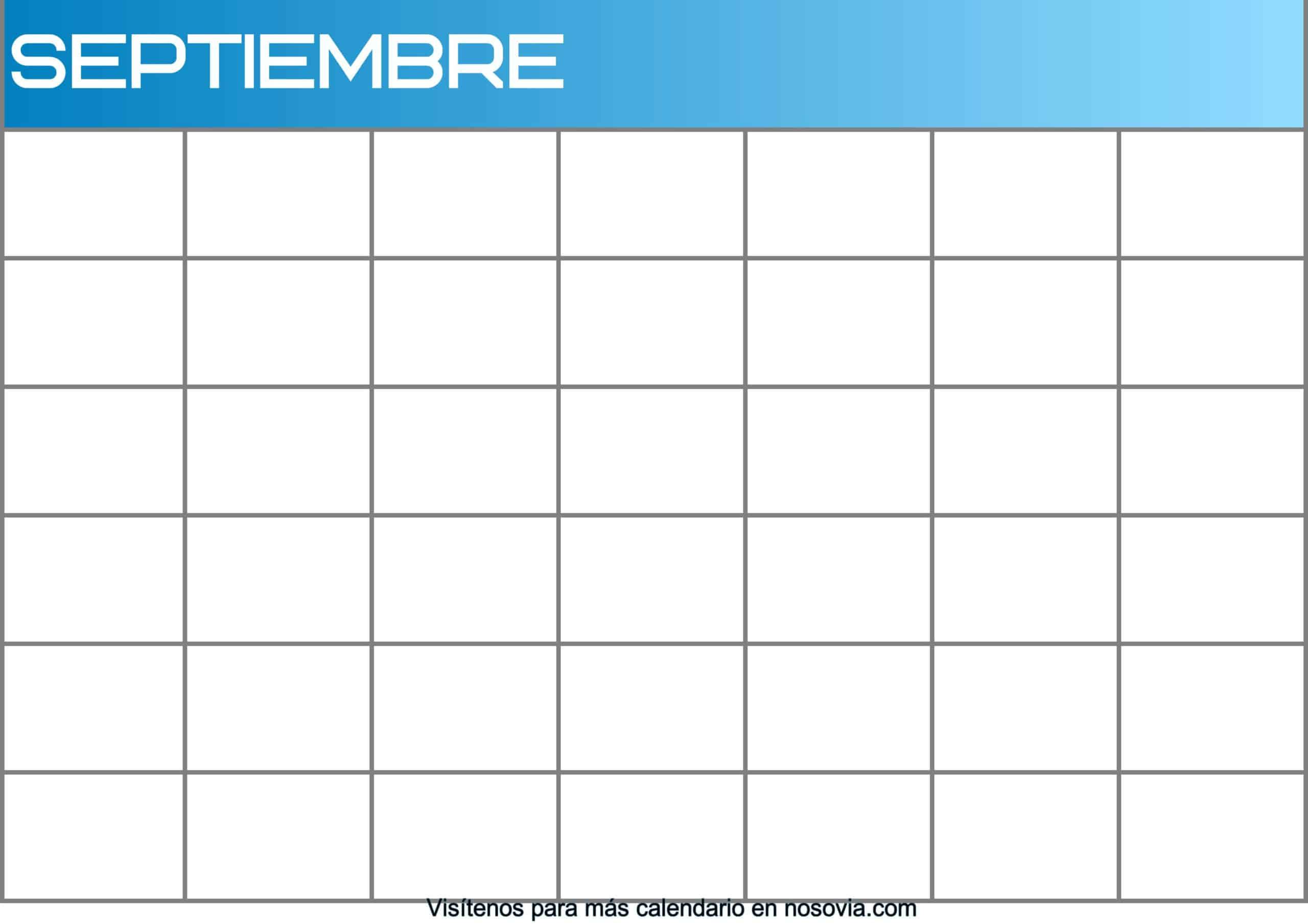 Calendario-septiembre-2020-en-blanco-Imágenes-gratis